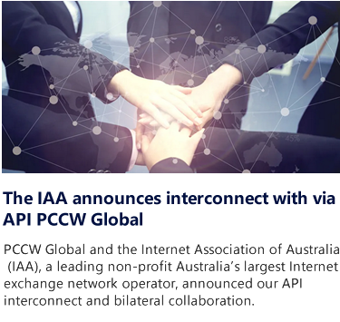 The IAA announces interconnect with via API PCCW Global